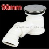 90mm White Fast Flow Waste Trap for Shower Enclosure Tray