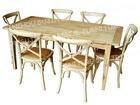 Vintage Reclaimed Solid Wood Dining Tables and Chairs
