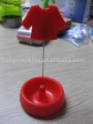 Red plastic T-shirt shaped note holder