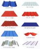 Roofing panel of color corrugated steel plate