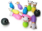 10 packs DIY PVC cartoon sheep figure candlepin and bowling toy