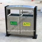 Outdoor stainless steel rubbish bin for park