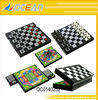 Hot sell 3 in 1 chess & chequer and gold rush game chessboard for children--OC0140252
