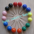 Assorted Color 8mm x 22mm Round Plastic Head pin