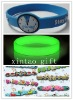 Factory sell green Luminous silicone wrist band /Model:XT:L001