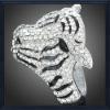 Fashion crystal tiger bangles bracelets