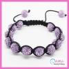 cc3003 Hot Handmade Purple Shamballa Bracelets