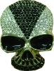 skull belt buckle with crystal