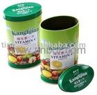 Candy Tin Box with Full Color Print / Oval Shape