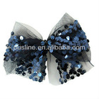 charming and attractive sequin mesh bow