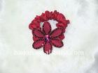 Real feather flower Black Stretch elastic hair Holder(HA-0039)