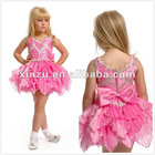 Fun Cute V-neck Beading Bodice High Low Hem Skirt Short Flower Girl Dress