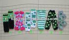 Saint Patrick Day Cotton Print Legwarmers Shamrock Knited Baby Leg Warmers in Stock