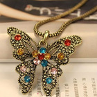 butterfly necklace vintage necklace wholesale factory