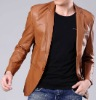 popular style slim fit men PU Leather jacket