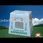 PRINTED PLASTIC PP ASPARAGUS PACKAGING BOX