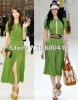 2012 Hot selling Top Quality Short Sleeve Pleated Chiffon Silk Dress 120416BU01