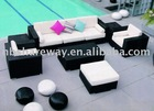 PE rattan sofa set