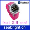 wrist phone ( S60 with dual sim card touch screen qual brand and bluetooth FM )