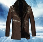 Sheep skin big turndown mink fur fur one male leather leather coat male fur coat