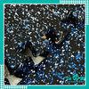 Black with stars interlocking rubber tile china manufactory