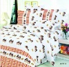 4pcs pigment printed bedding set, 100% cotton 40s*40s /124*64