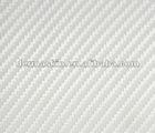 High Quality 3D White Texture Carbon Fibre Vinyl Twill Car Wrap Sticker Bubble Free