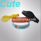 cute rubber silicon products for bracelets