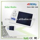 Pocket solar rechargeable FM radio & charger