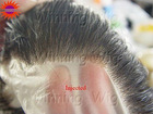 injected thin skin human hair toupee or hair piece injected-1