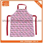 Children's little cute cotton pink cooking apron