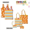 Vest shopping bag foldable with small pouch