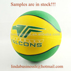 6P Free EU Standard Rubber basketball with OEM