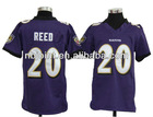 2012 newest youth American football jersey,Reed#20 Ravens youth Jersey, free shipping+paypal