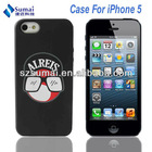 ALRRIS Hat with Glass Color Cover For iphone 5 Silicone Case,Soft Material for iPhone 5 Soft Cover