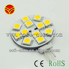 12vDC G4 12smd5050 side pins white
