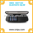 Touch screen 5 inch GPS rearview mirror wireless camera bluetooth Av in