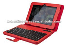 Removeable Bluetooth Keyboard case for Kindle Fire hd 7 inch(Red)