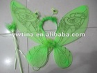 Fashion Green butterfly fairy wing with silver glitter for party girls(fairly wings)
