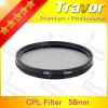 professional camera Lens Filter polarizer CPL 58mm