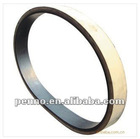 White rubber coated Flat Belts