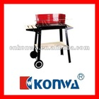 Out door Charcoal Cyprus BBQ grill with 2 wheels