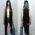 60 inch New Stylish Silky Black Straight Long wigs