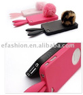 Cartoon rabbit ear silicon mobile phone case for iphone 4