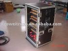 2010 Aluminum Single Rack Transport/flight case U Case with DJ Mixer case