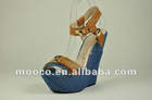 New arrival wedge heel sandals.high heeled summer wedages