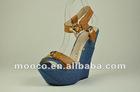 New arrival wedge heel sandals.high heeled summer wedages
