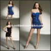 MLH9143 Sexy Blue Strapless Sweetheart Chiffon Beaded Mini Length Cocktai Dresses Made in China