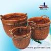 durable natural handmade wicker food basket