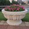 Garden granite flowerpot